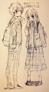 sweet couple in art