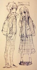 sweet couple in art